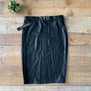 NEW BlankNYC Faux Leather Pencil Skirt Fitted